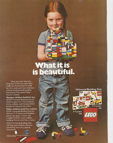 Lego advertisement from 1981.